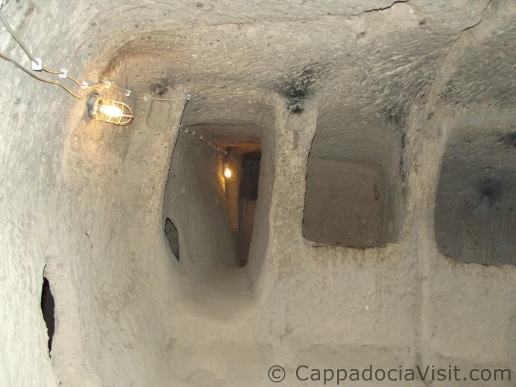 Тоннель в подземном городе Каймаклы