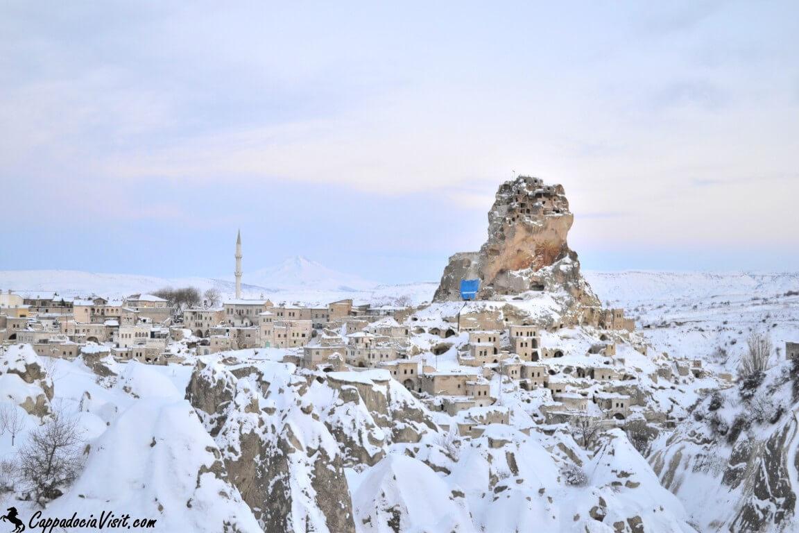 Городок Ортахисар зимой