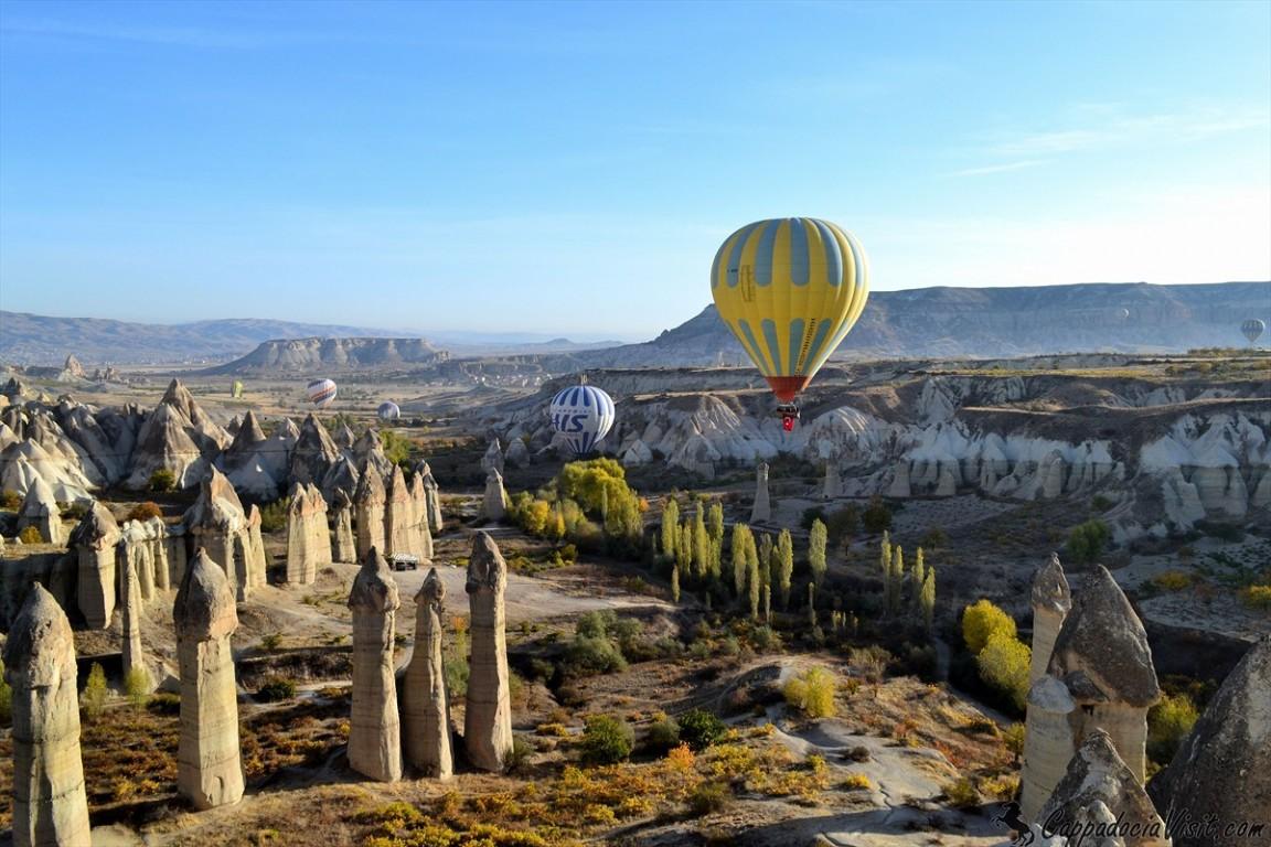 Красота Каппадокии с воздушного шара