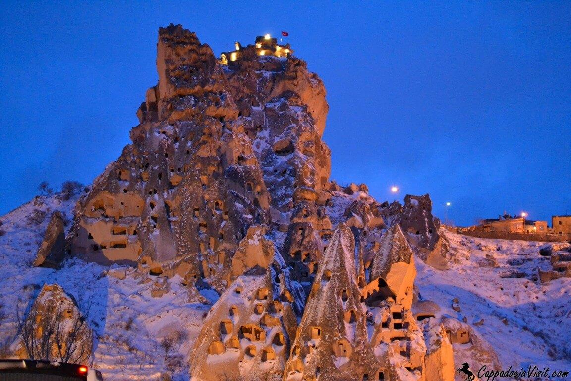 Крепость Учхисар в январе 2014