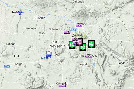 Интерактивная спутниковая карта Каппадокии