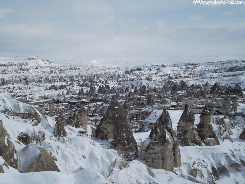 Городок Гёреме зимой