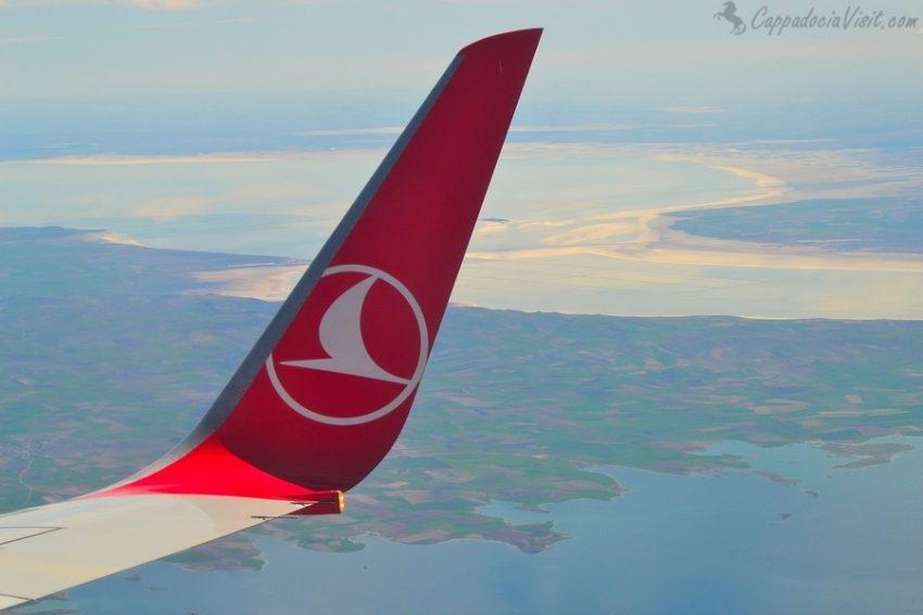 Солёное озеро Туз - вид с самолета