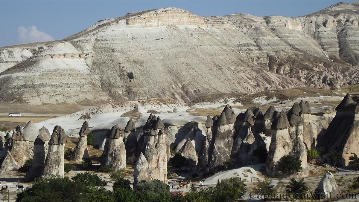Образование скальных конусов в Каппадокии