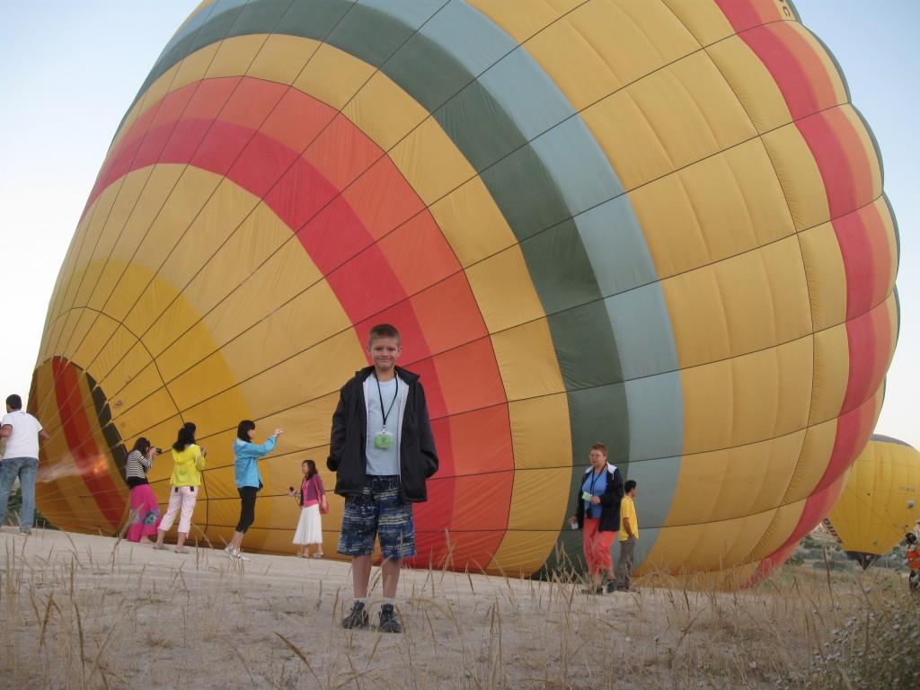 Перед началом полета на шаре