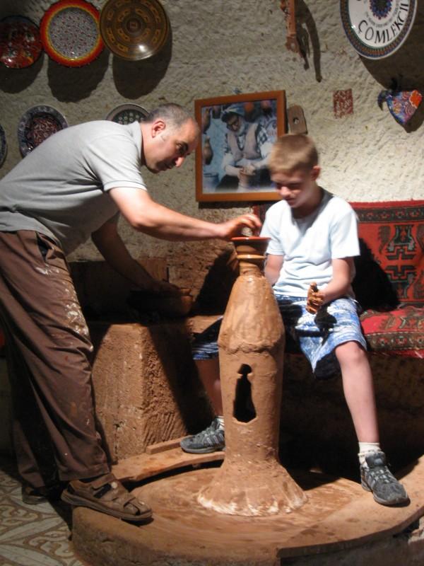 Мой сын Михаил – гончар