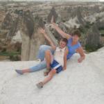 Мы на фоне Каппадокийского пейзажа
