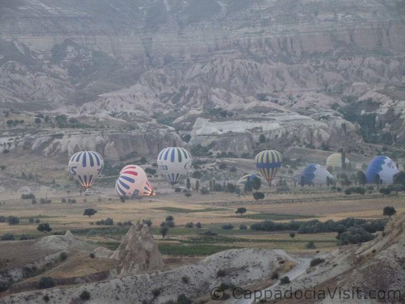 Подготовка воздушных шаров к старту