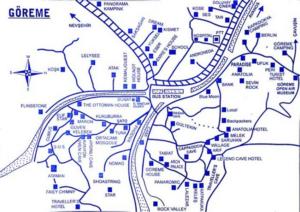 Схема расположения отелей в Гереме