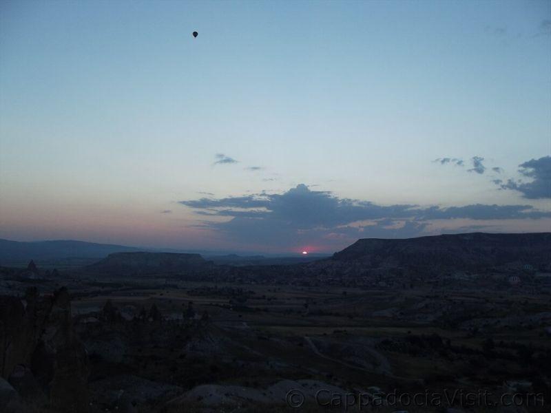 Восход сонца в Каппадокии
