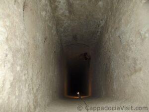 Вентиляционная шахта подземного города Каймаклы