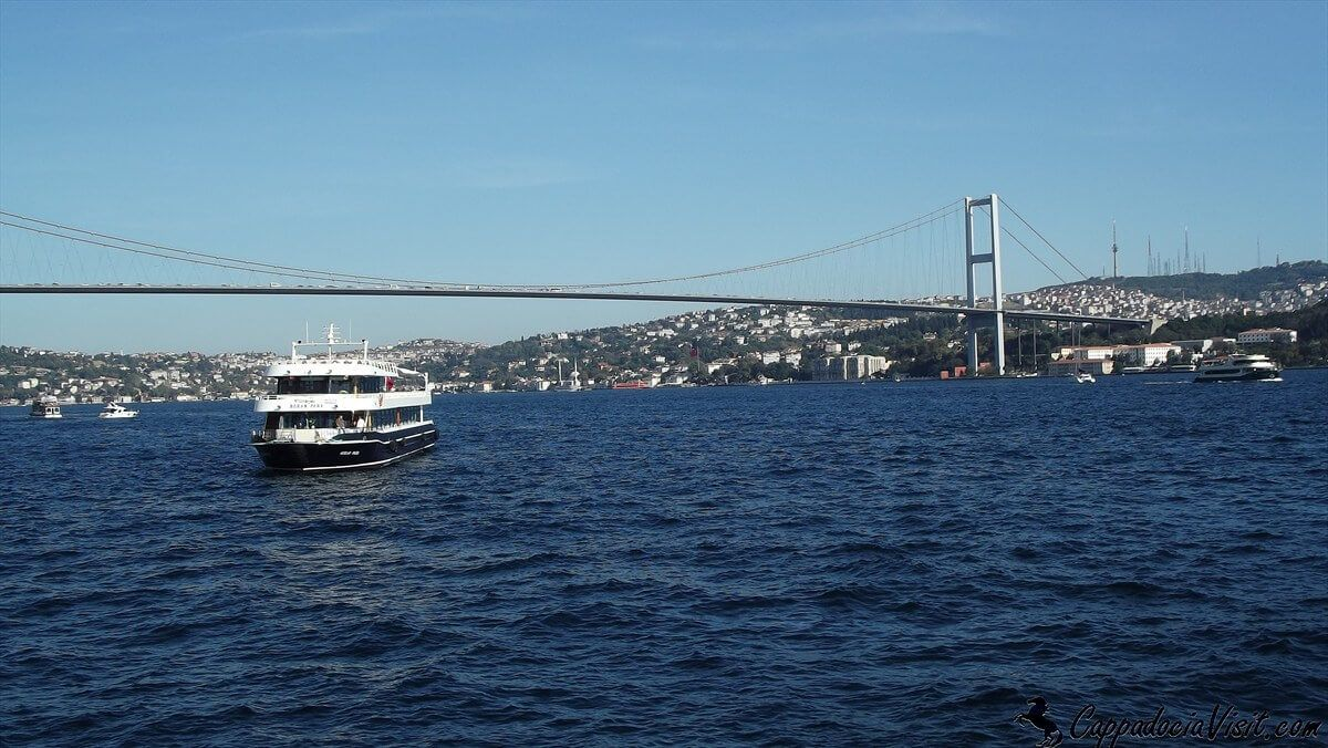 Босфорский мост и азиатское побережье Стамбула