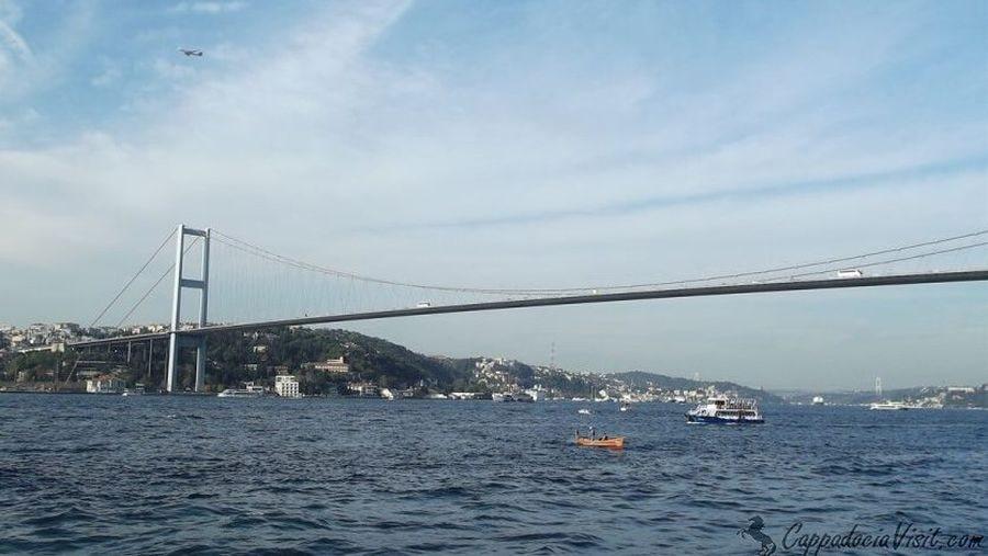 Босфорский мост и европейское побережье Стамбула