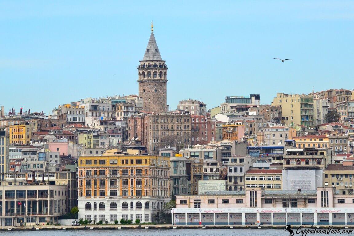 Башня Галата находится в Стамбульском районе Бейоглу