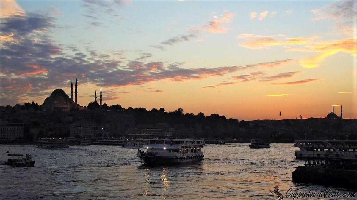 Закат в Стамбуле