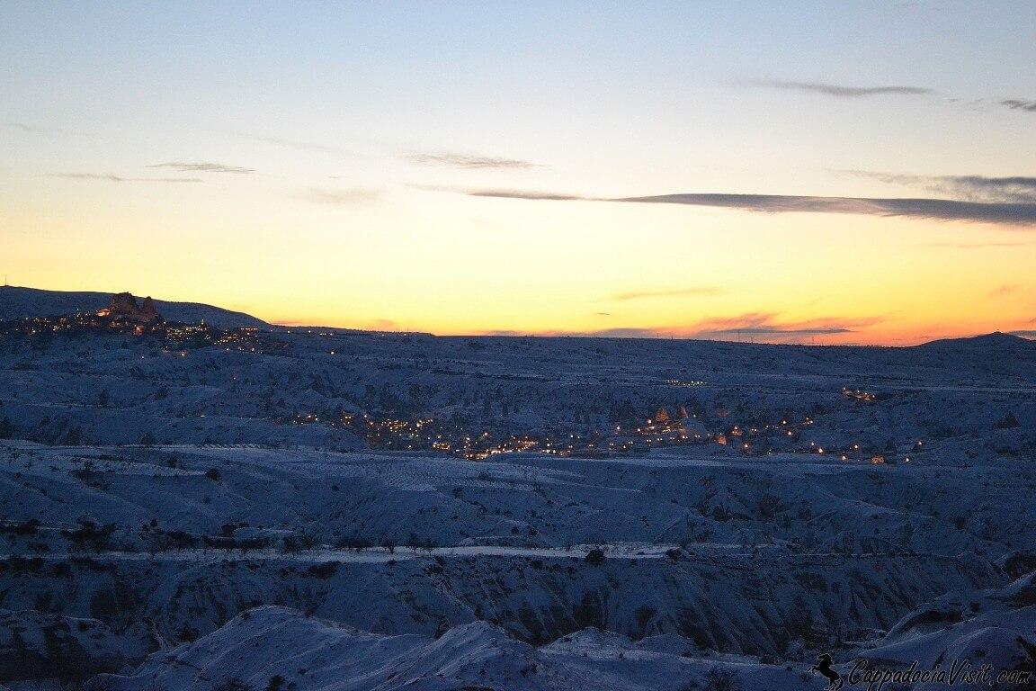 Зимний Закат в Каппадокии