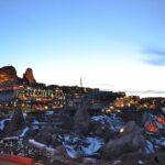Крепость Учхисар - зимний закат