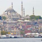 Мечети Стамбула - Сулеймание и влево Новая мечеть