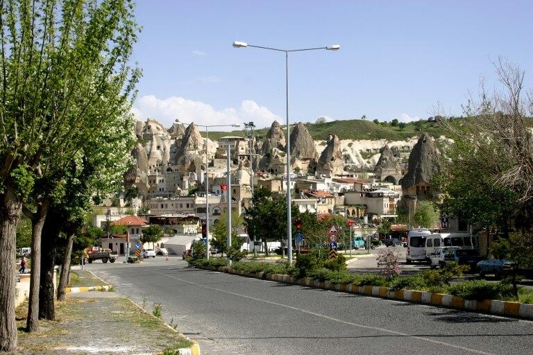 Вид городка Гореме в Каппадокии
