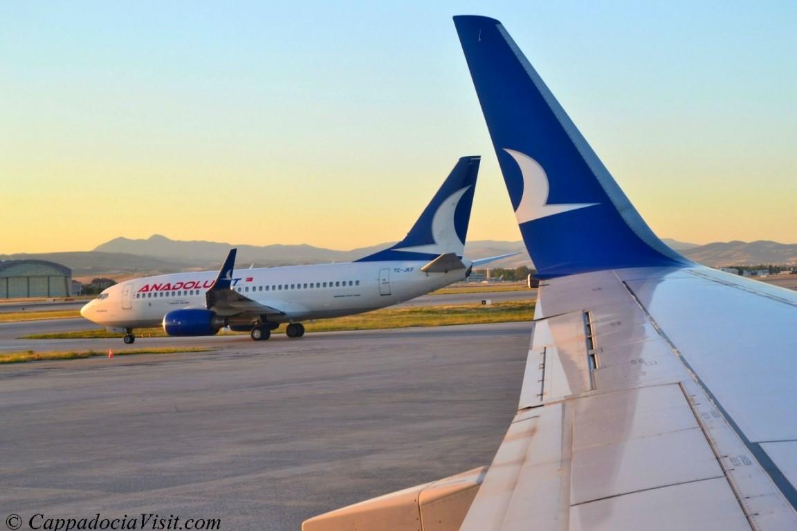 АнадолуДжет выполняет рейсы Каппадокия - Анталия