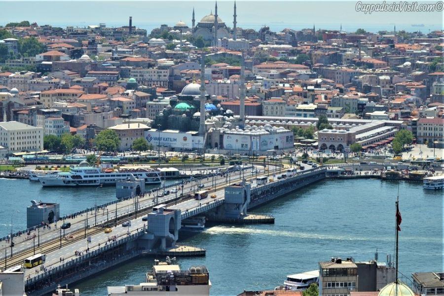 Вид на Галатский мост с Галатской Башни