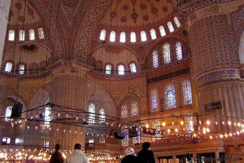 Голубая мечеть - интерьер