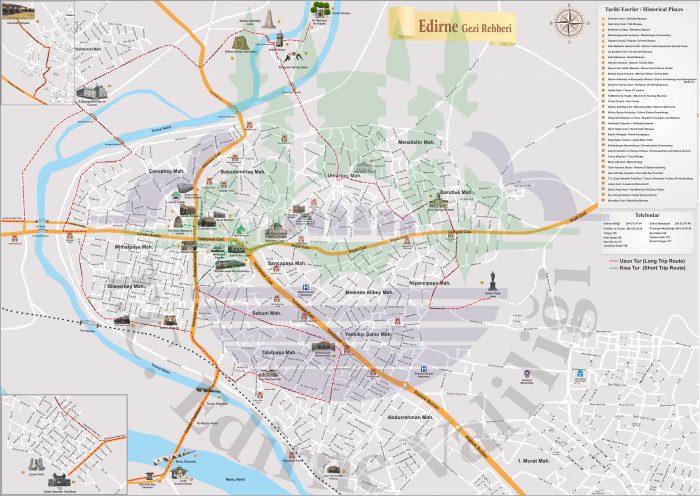 Карта Эдирне