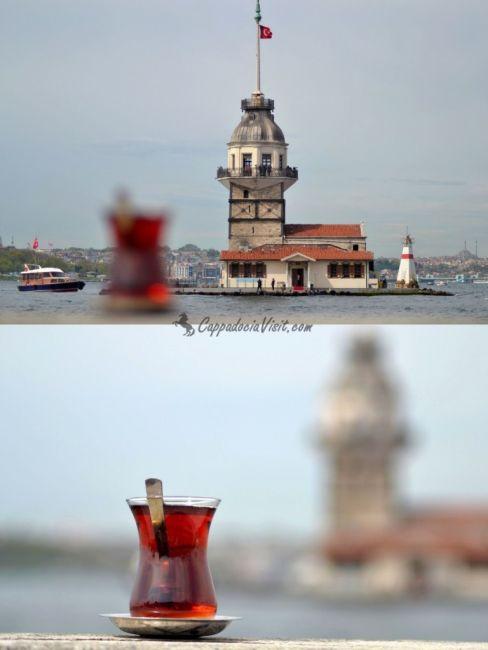 Выпить стаканчик турецкого чая любуясь Девичьей башней большой кайф