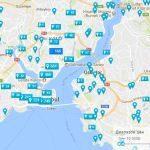 Отели на карте Стамбула - Карта Стамбула с отелями