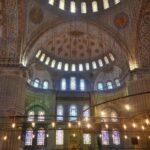 Высота центрального купола Голубой мечети - 43 метра