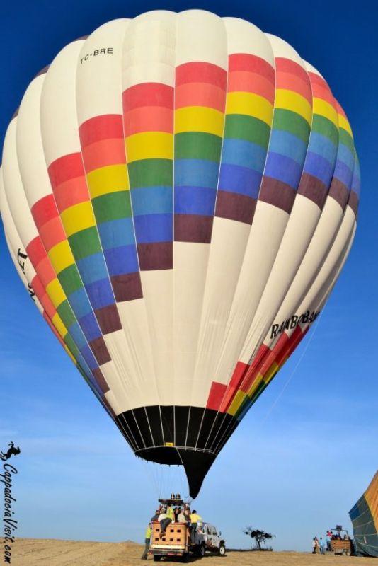 Полет на воздушном шаре -Мягкая посадка шара