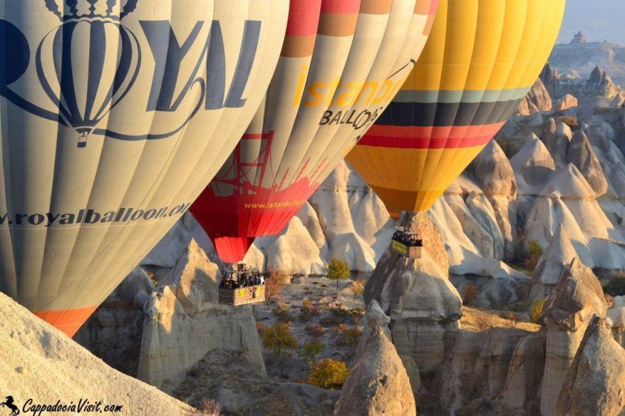 Полет воздушных шаров - утреннее шоу в Каппадокии