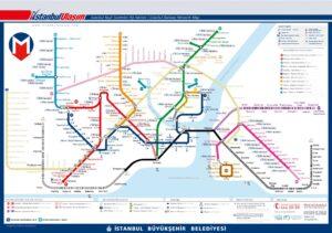 Карта - схема рельсового транспорта Стамбула (Метро Стамбула)