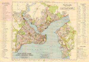 Карта Стамбула в 1922 году