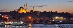Мечеть Сулеймание при закате