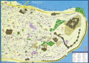 Карта Султанахмет и Старой Части Стамбула с достопримечательностями