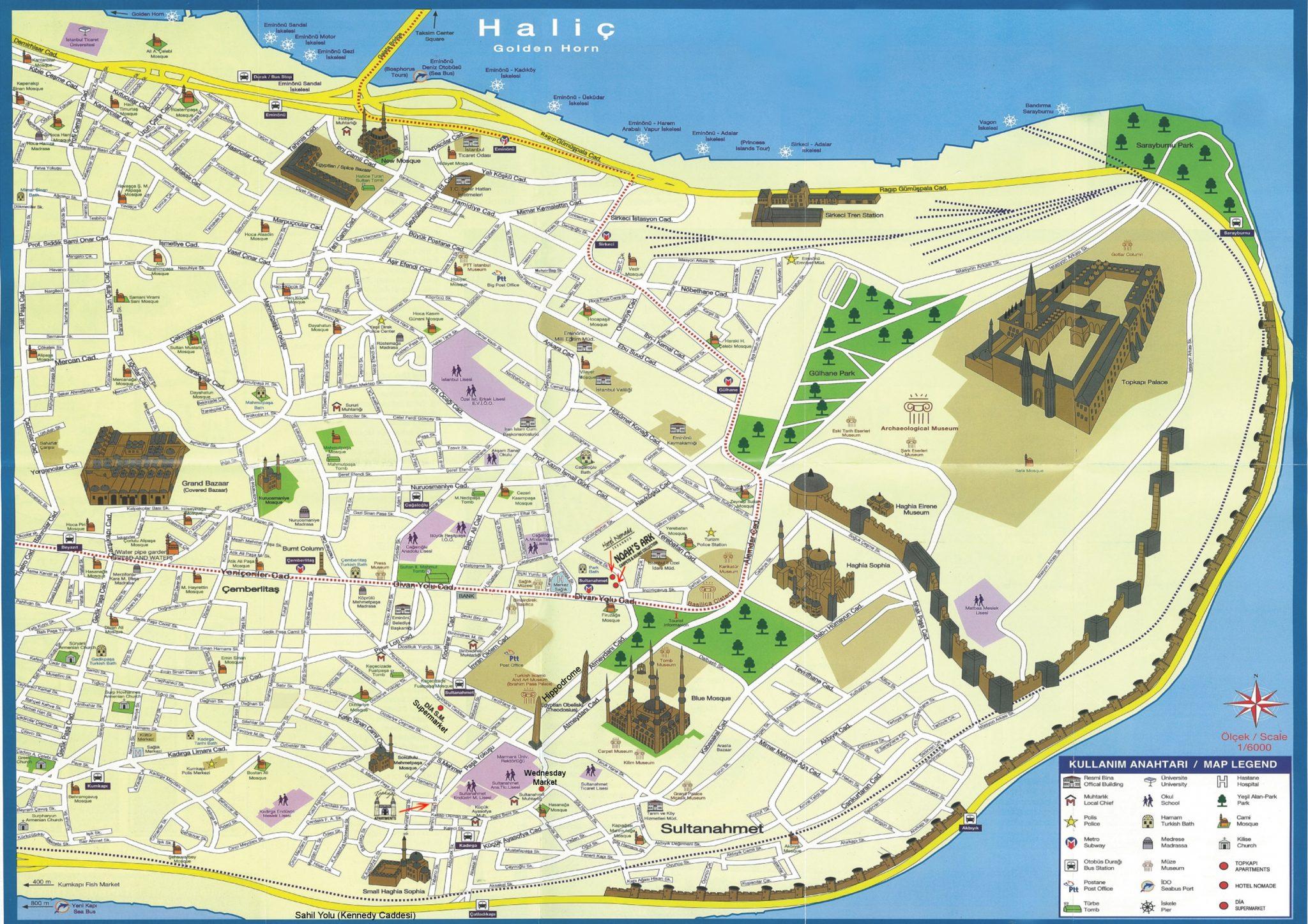 Карта Султанахмет и Старой Части Стамбула