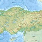 Физическая Карта Турции - Горы и реки