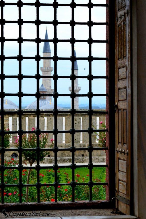 Вид на город из двора мечети Селимие