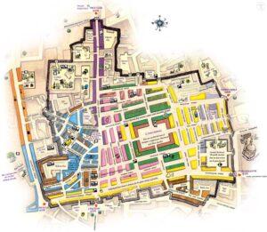 План-схема Гранд Базара в Стамбуле