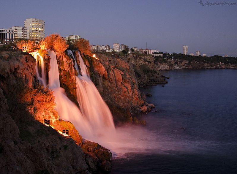Водопад Нижний Дюден в Анталии