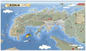Карта полуострова Бодрум