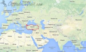 Турция на карте мира - Карты Турции
