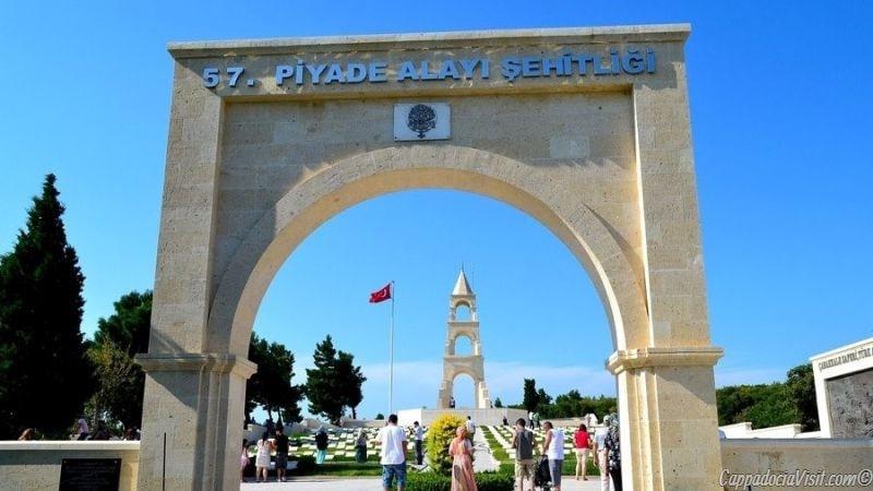 Одно из кладбищ турецких солдатов в Галлиполи