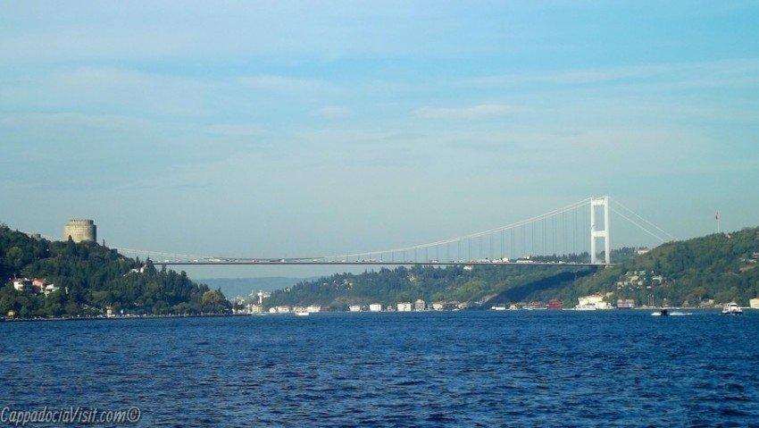 Мост Мехмеда Фатиха и бшня крепости Румелихисары