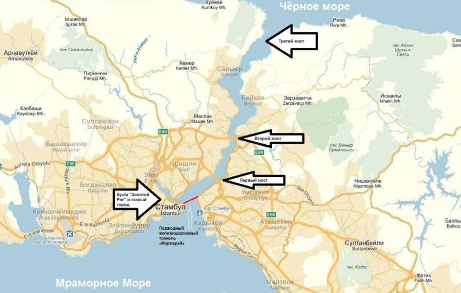 Карта Босфора