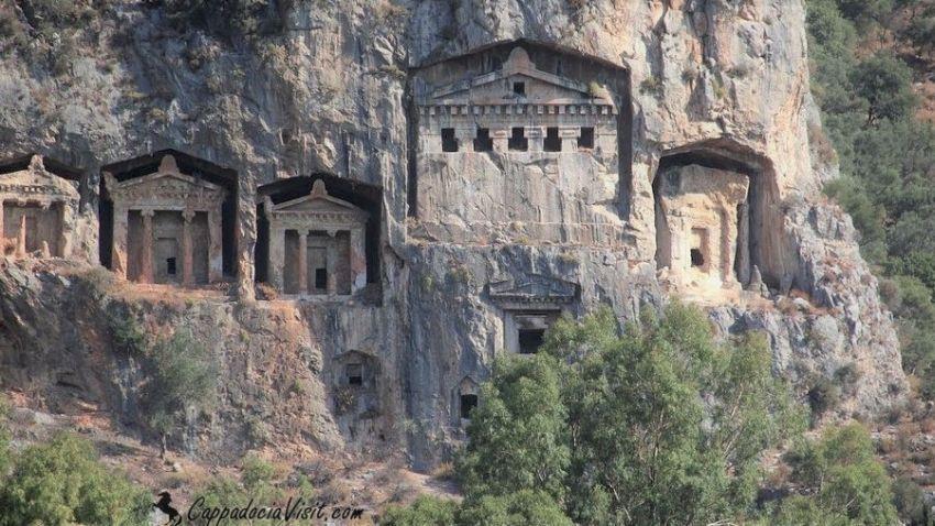Ликийские скальные гробницы - Каунос, Дальян