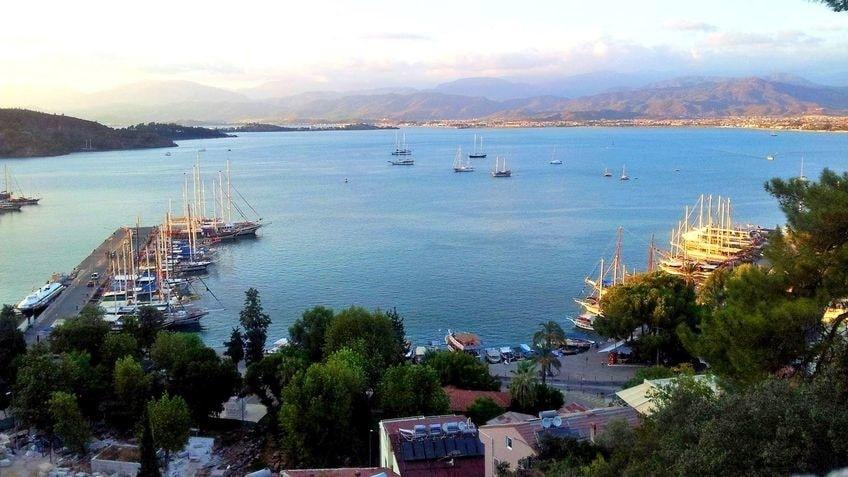 Бухта города Фетхие - Эгейское побережье Турции