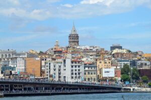 Галатский мост и башня Галата - Стамбул