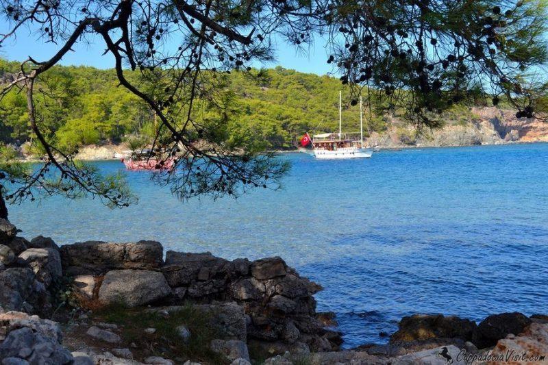 Моря Турции: Бухта Фаселиса - Средиземное море